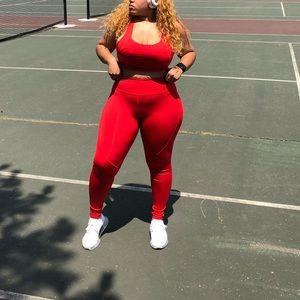 Pants & Jumpsuits - BLACK two piece fitness set